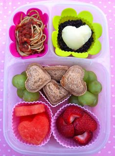 Heart pocket sandwich bento and some leftovers too.