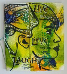 Marja's Creativity (paintings, art journals etc): Live, Love, Laugh