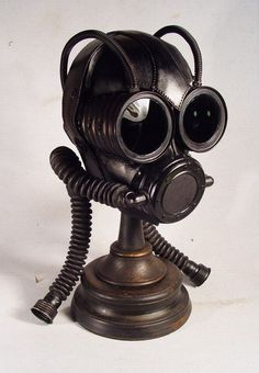Steampunk Leather Gas Mask