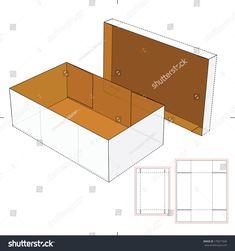Shoes Cardboard Box With Die-Cut Pattern Stock Vector Illustration 179577509 : Shutterstock Diy Cardboard Furniture, Cardboard Toys, Cardboard Playhouse, Diy Gift Box, Diy Box, Diy Birthday Gifts For Friends, Paper Box Template, Box Template Printable, Diy Karton
