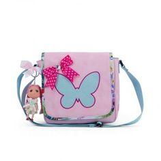 Deze Zebra Tassen Kinderflaptas tropical pink met Doll vind je op www.liefzebraatje.nl