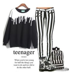 """Black and white"" by cender111 ❤ liked on Polyvore featuring Vans, Dr. Martens and New Look"