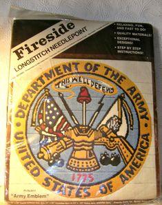 Army Emblem Needlepoint THIS WE'LL DEFEND  Longstitch Kit #FI-78-2011  NEW  #FiresideCraftsInc