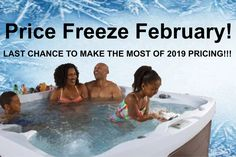 Take advantage of 2019 pricing with Happy Hot Tubs. Great deals on top quality Hot Spring and Freeflow hot tubs. Happy Hot, Hot Tubs, Hot Springs, Freeze, Great Deals, February, Spa Baths, Spa Water, Whirlpool Bathtub