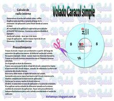 COMO CALCULAR EL TRAZADO DE VOLADO CARACOL SIMPLE