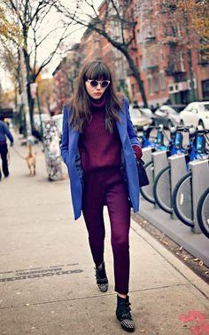 // Burgundy & Blue