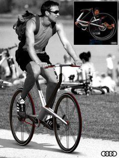 Audi folding bike | Yanko Design