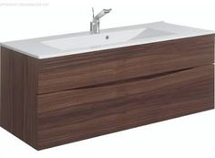 Bauhaus Glide II 1000mm Vanity Unit with Inset 1TH Basin American Walnut £743