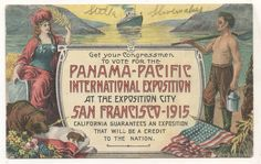 Advertising for PANAMA PACIFIC EXPOSITION 1915 SAN FRANCISCO CA Vintage Postcard
