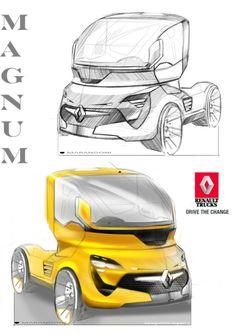 Renault Truck Concept design sketch