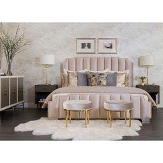 Cloud 9 Raina Charcoal Pillow – High Fashion Home decor bedroom Glam Bedroom, Room Ideas Bedroom, Home Bedroom, Classy Bedroom Ideas, Hotel Inspired Bedroom, Bedroom Furniture, 1920s Bedroom, Furniture Sets, Fashion Bedroom