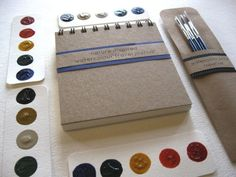 DIY Pocket Sized Watercolor Paint and Art Journal Travel Set via Etsy, Gardenista