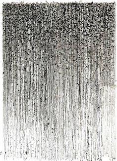 "Saatchi Art Artist Nigel Bird; Abstract Drawing, ""Pennies remade (again)"" #art"