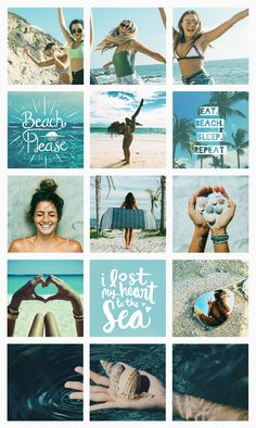 Beach sunny summer summertime cool fresh organized tidy pretty Instagram feed | Direção de arte para instagram ⋆ Pashion Studio