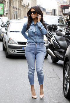 April 30, 2014 - Kim Kardashian arriving to the Lanvin Offices in Paris.