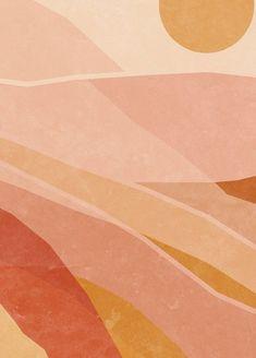 Desert Art, Desert Colors, Mindfulness Art, Artwork For Living Room, Aesthetic Backgrounds, Boho Backgrounds, Outdoor Art, Printable Wall Art, Wall Collage