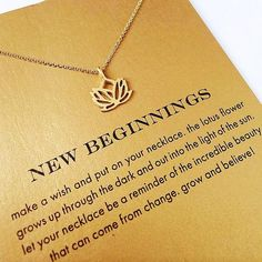 new beginnings necklace Would be a good gift for newly weds.