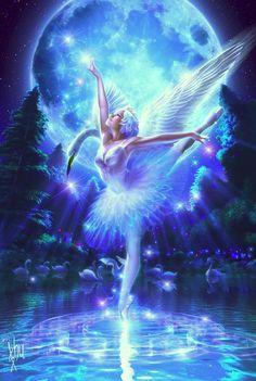 diy diamond Painting Cross Stitch kit Diamond Embroidery Swan Lake Dance girl picture Mosaic pattern arts and crafts Fantasy Kunst, Fantasy Art, Poster One Piece, Beautiful Fairies, Beautiful Swan, Fantasy Illustration, Cross Paintings, Swan Lake, Angel Art
