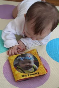 fat fabric quarter custom printed with pictures for soft baby book idea. Super cute
