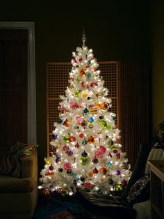 White Christmas Tree Glow BEST VIEWED LG. for detail by charlie3engineer, via Flickr