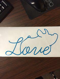 Show Pig Love Vinyl Sticker by CarouselDesign on Etsy