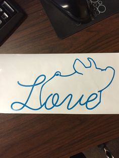 Show Pig Love Vinyl Sticker by CarouselDesign on Etsy
