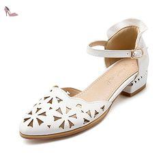 BalaMasa , Sandales pour femme - Blanc - blanc, 42 - Chaussures balamasa (*Partner-Link)