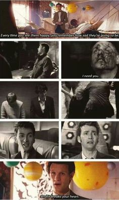 Superwholock ||| Supernatural + Doctor Who + Sherlock. When dean had his family for a year and then Sam came back. He should of came back straightaway so that there was less emotional damage
