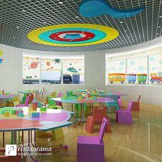 Cortinas Impresas Kindergarten, Kids Rugs, Ideas, Home Decor, Printed Curtains, Shades, Windows, Glass, Doors