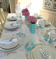 "Tiffany inspired birthday party on a budget. For my next party that ends in ""0""?"