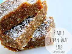 ~*Turtle Mama*~: Recipe: : Simple Pecan-Date Bars Date Recipes, Clean Recipes, Sweet Recipes, Dessert Cake Recipes, Snack Recipes, Desserts, Healthy Snacks, Healthy Recipes, Healthy Eats