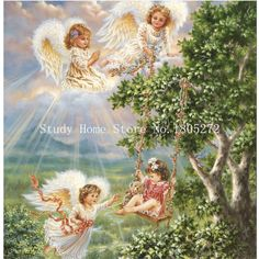 100%Full Diamond embroidery Angel girl Needlework DIY diamond painting mosaic Cross Stitch kit home decor diamond pattern AA06