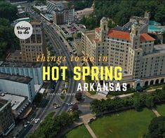 Things to do in Hot Springs, AR –Hot Springs, AR is home to a National Park featuring Bathhouse Row, 8 historic bathhouses and surrounding gardens along Central Avenue. The city is famous for its recovery ... Read More