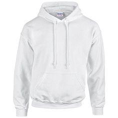 Gildan Heavy Blend Erwachsenen Kapuzen-Sweatshirt 18500 White, L - http://besteckkaufen.com/unbekannt/l-gildan-unisex-kapuzen-sweatshirt-heavy-blend-49