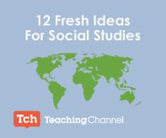 Take a look at some novel approaches to teaching social studies. Hopefully they'll spark some creativity and inspire you to think about your curriculum in a different way.