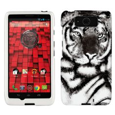 Motorola Droid Ultra Maxx White Tiger Face Phone Case Cover $8.99