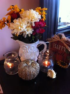 Cute & easy way to decorate the bedroom for fall!