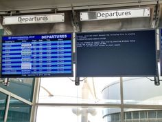 System 32 deleted at Denver Airport #bsod #pbsod
