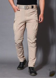 Tactical Cotton Many Pockets Stretch Trousers, City Tactical Cargo Pants Men Combat SWAT Military Trousers Cotton Many Pockets Stretch Flexible Man. Tactical Cargo Pants, Cargo Pants Men, Khaki Pants, Mens Trousers Casual, Men Casual, Military Pants, Camouflage Pants, Straight Trousers, Hiking Pants