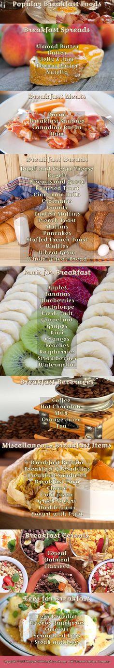 Popular Breakfast Foods - http://www.recipepublishingnetwork.com/post/announcement/popular-breakfast-foods/ #breakfast