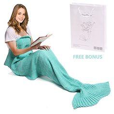 Mermaid Tail Blanket, Amyhomie Mermaid Crochet Blanket fo... https://www.amazon.com/dp/B01L1HJ13M/ref=cm_sw_r_pi_dp_x_9wlxybX7ZA47V