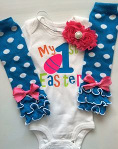 5e1628817 Baby Girl Easter Outfit MY FIRST EASTER outfit by AboutASprout My First  Easter, Easter Baby