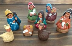 Un favorito personal de mi tienda Etsy https://www.etsy.com/es/listing/242919866/peruvian-ethnic-nativity8-pieces