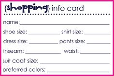 brown paper packages: {shopping info cards}