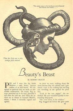 Hannes Bok, Beauty's Beast by Robert Bloch, Weird Tales Tumblr Tattoo, Robert Bloch, Beast, Snake Art, Esoteric Art, Arte Obscura, Photo Images, Occult Art, Photo D Art
