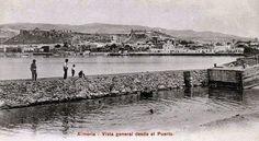 Postales Antiguas de Andalucía: Vista general desde el Puerto (Almería)