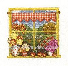 Buy Autumn Window Cross Stitch Kit online at sewandso.co.uk