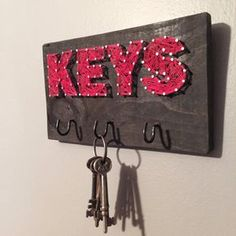 String Art Key Hook Custom Storage by BryanKiddDesigns on Etsy