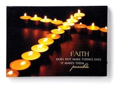 """Gift Craft """"Faith"""" LED Canvas Print, 11 by for sale online Canvas Lights, Lighted Canvas, Christian Pictures, Led, Faith Quotes, Decoration, Wall Prints, Canvas Art, Wall Decor"""