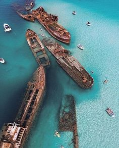 Tangalooma Wrecks, Moreton Bay ...been here and didn't get to see it